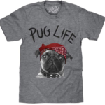 camiseta decorada pug life